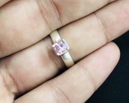 21 Carats Natural Pink Tourmaline Silver Ring