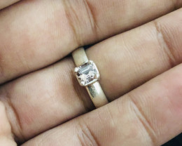 21 Carats Natural Mint Green Tourmaline Silver Ring