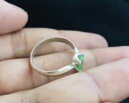 11.45 Carats Natural Mint Green Tourmaline Silver Ring
