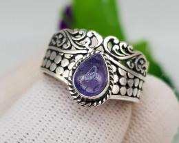 Natural Tanzanite Ring 21.40 Carats 925 Hand Made Ring