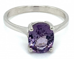 Purple Spinel 2.05ct Solid 14K White Gold Ring