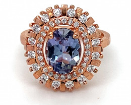 Tanzanite 1.50ct Rose Gold Finish Solid 925 Sterling Silver Ring