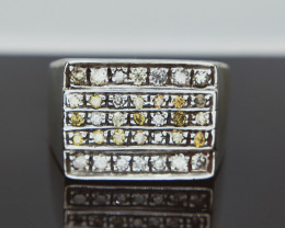 50.84 cts , 925 silver Ring , 35/0.85 cts Loose Diamond