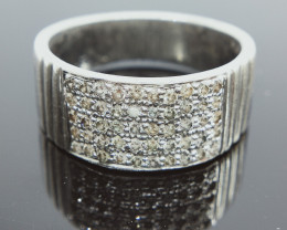 34.77 CTS , Loose Natural Diamond Ring , 0.75 cts White/Off white Diamond