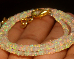 18.70 Crts Natural Welo Opal Beads Necklace 845
