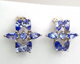 Natural Tanzanite Earrings
