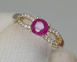 Natural Kashmiri Sapphire Silver Ring