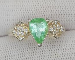 Natural Paraiba Tourmaline Ring 925 Sterling Silver