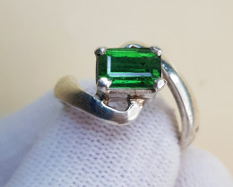 Natural Green Tourmaline 22.80 Carats Hand Made Ring