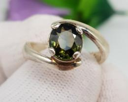 Natural Tourmaline 22.50 Carats Hand Made Ring