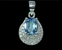 1.48ct.Elegant Natural Topaz Gemstone Silver925 Pendant.DTP422