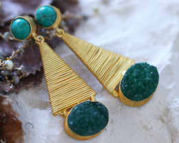 Unique and Custom Curated Hand Made Earrings  RT-190