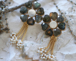 Unique and Custom Curated Hand Made Earrings  RT-193