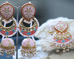 Unique and Custom Curated Hand Made Earrings & Tikka Set RT-246