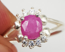 Natural Red Ruby 9.70 Carats Silver 925