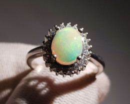 Natural Multi Fire Opal Ring