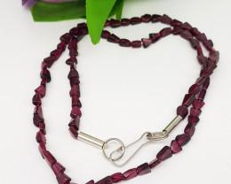 Natural Rhodolite Garnet 59.00 Carats Necklace