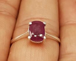 Natural Ruby 925 Silver Ring
