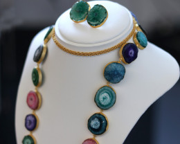 Unique and Custom Curated Hand Made Necklace & Earrings  RT-269