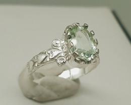 Natural Aquamarine silver Handmade Ring 16.50 Carats
