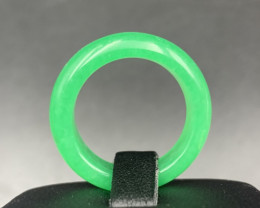 Elegant Apple Green Type-B Treated Jadeite Ring. Jdr-414