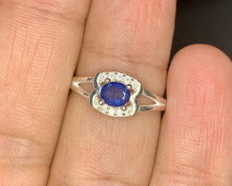 Natural 12.00 Carats blue sapphire 925 Silver Ring