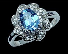 1.44ct.Enticing Natural Topaz Gemstone Silver925Ring.DTP440