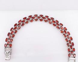 59 stones Natural Garnet Bracelet