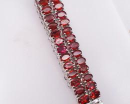 70 stones Natural Garnet Bracelet