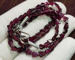 Natural Rhodolite Garnet Necklace 73.30 Carats