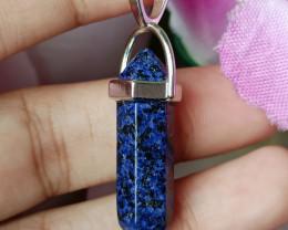 Natural Lapis Lazuli Gold Plated Handmade Pendant 100% Natural Unheated