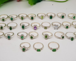 Gorgeous Mix Rings Lot For Auction Total Lot Carats 285.95 Free Shipping