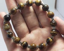 143.75 Carats Natural Tiger Eye Bracelet