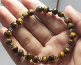 96.15 Carats Natural Tiger Eye Bracelet