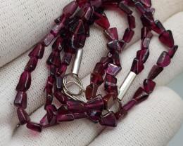 Natural Rhodolite Garnet 69.00 Carats Necklace