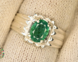 31.0 Ct Ring ~With AAA Clarity Afghan Emerald Stone