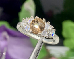 Natural 17.00 Carats color change Axinite  925 Silver Ring