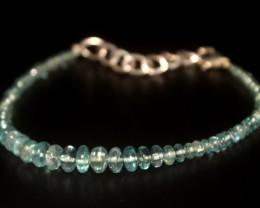 26 Crt Natural Apatite Rondelle bracelet