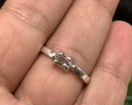Natural 12.00 Carats Pakistan aquamarine hand Made 925 Silver Ring