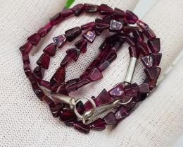 Natural Rhodolite Garnet 68.50 Carats Necklace
