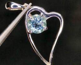~NR~Excellent Blue Topaz Silver 925 Pendant