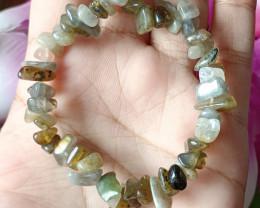 Natural  Labradorite Handmade Bracelet 100% Natural Unheated