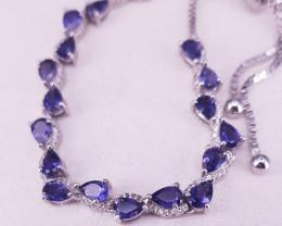 Stunning Natural Iolite Bracelet