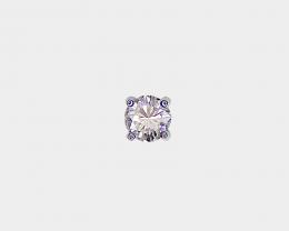 Diamond Single Stud Earring, 14k white Gold