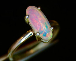 ~NR~Elegant Fire Opal Attractive Silver 925 Ring