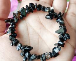 Natural Black Agate Handmade Bracelet 100% Natural Unheated