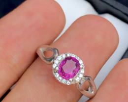 Presenting Exclusive 17.20  Ct Silver Ring  ~  With Pink Corundum Sapphire!