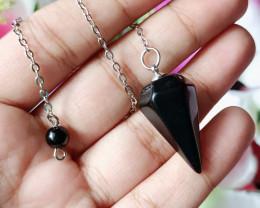 100% Natural Diamond Shape Black Onyx Gold Plated Handmade Pendant
