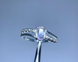 Natural 8.50 Carats rare Hackmanite 925 Silver Ring