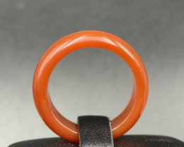 Brilliant  Quality Carnelian Agate Ring. Cr-582